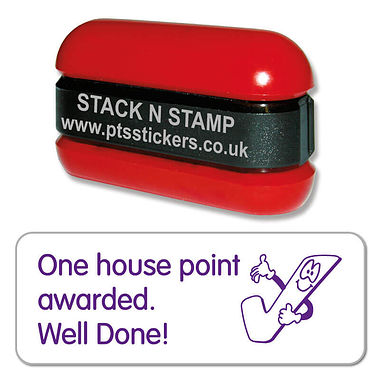 One house point awarded Well Done Stack & Stamp - Purple Ink (38mm x 15mm)