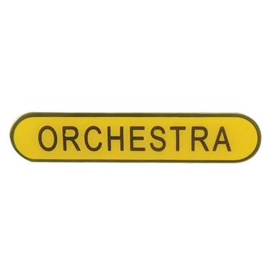 Orchestra Enamel Badge - Yellow (45mm x 9mm)