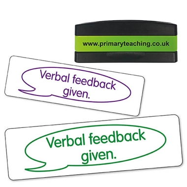 Verbal Feedback Given Stakz Stamper (44mm x 13mm)