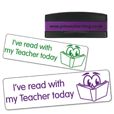 I've Read With My Teacher Today Stakz Stamper (44mm x 13mm)