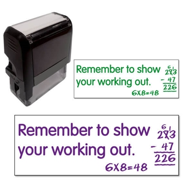 Remember to Show Your Working Out Stamper (38mm x 15mm)