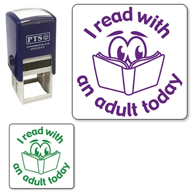 I Read with an Adult Today Stamper (25mm)