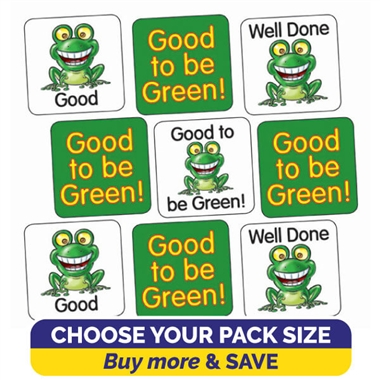 Good to be Green Stickers (16mm)
