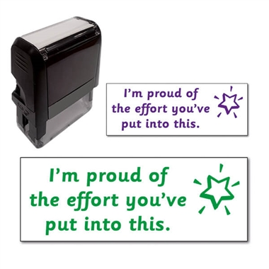 'I'm Proud of the Effort You've Put into This' Stamper (38mm x 14mm)
