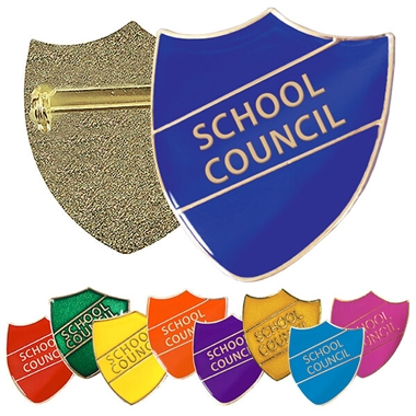 School Council Enamel Shield Badge (Pin fastening)