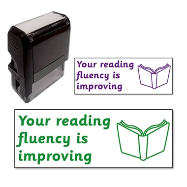 Your reading fluency is improving Stamper (38mm x 15mm)
