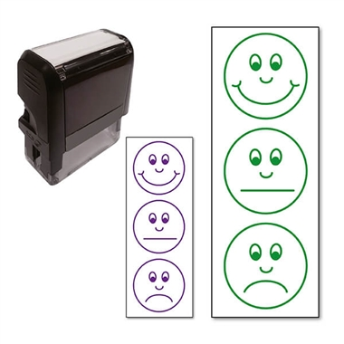 Smiley Face Expressions Stamper (38mm x 15mm)
