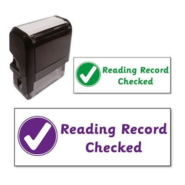 Reading Record Checked Stamper (38mm x 15mm)