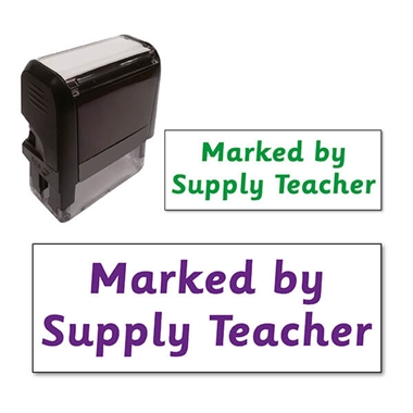 Marked by Supply Teacher Stamper (38mm x 15mm)
