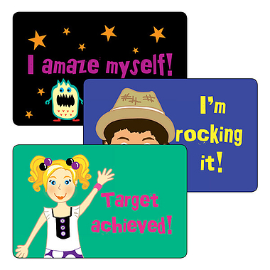Pedagogogo Stickers - Mixed designs (32 per sheet - 46mm x 30mm)