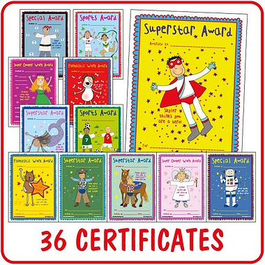 Pedagogs Certificates Value Pack (36 Certificates - A5)