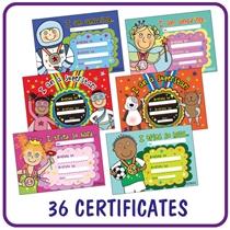 Pedagogs Certificates Value Pack (36 Certificates - A5)