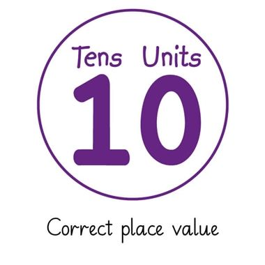 Pedagogs 'Correct Place Value' Stamper - Purple Ink (25mm)
