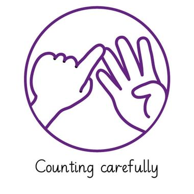 Pedagogs 'Counting Carefully' Stamper - Purple Ink (21mm)