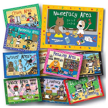 Pedagogs Dangling Area Signs (10 Double-Sided Cards - A4)