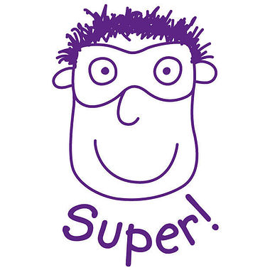 Pedagogs Hero Stamper - Super - Purple Ink (21mm)