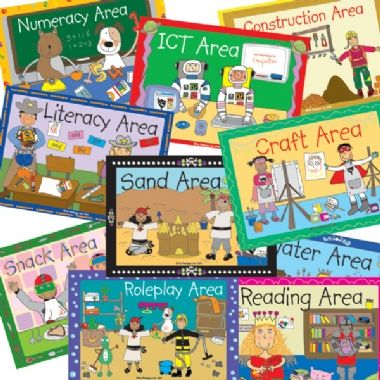 Pedagogs LAMINATED Classroom Area Signs (A4 Size)