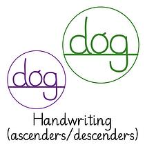 Pedagogs Marking Stamper - Ascenders/Descenders (20mm)