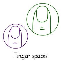 Pedagogs Marking Stamper - Finger Spaces (20mm)