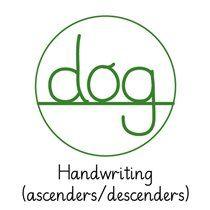 Pedagogs Marking Stamper - Handwriting Dog - Green Ink (25mm)