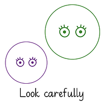 Pedagogs Marking Stamper - Look Carefully (20mm)