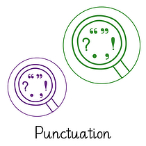 Pedagogs Marking Stamper - Punctuation (20mm)