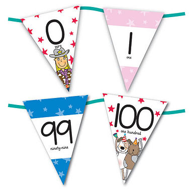 Pedagogs Number Bunting (Numbers 0-100)