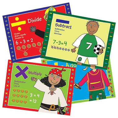 Pedagogs Numeracy Posters (4 Posters - A4)
