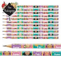 Pedagogs Pencils - Pink & Green (12 Pencils)
