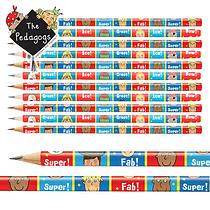Pedagogs Pencils - Red & Blue (12 Pencils)