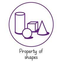 Pedagogs 'Property of Shapes' Stamper - Purple Ink (25mm)