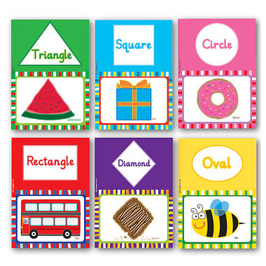 Pedagogs Shape Posters LAMINATED  (6 Posters - A4)