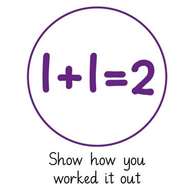 Pedagogs 'Show How You Worked It Out' Stamper - Purple Ink (21mm)