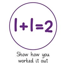 Pedagogs 'Show How You Worked It Out' Stamper - Purple Ink (25mm)