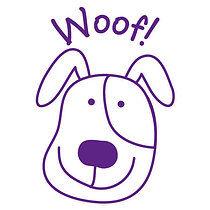 Pedagogs Stamper - Dog Woof! (25mm)