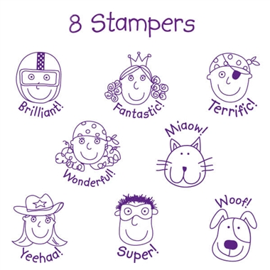 Pedagogs Stampers - Supergogs (8 Stampers - 25mm)