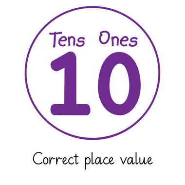 Pedagogs Tens and Ones Stamper - Purple Ink (25mm)