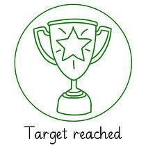 Pedagogs Trophy Stamper - Green Ink (25mm)