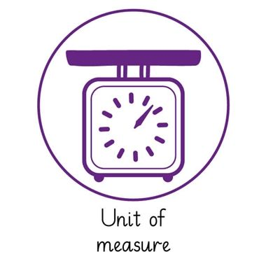 Pedagogs 'Unit of Measure' Stamper - Purple Ink (25mm)