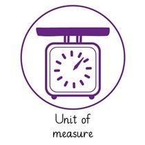 Pedagogs 'Unit of Measure' Stamper - Purple Ink (25mm)