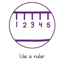 Pedagogs 'Use a Ruler' Stamper - Purple Ink (25mm)
