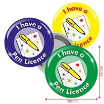 Pen Licence Badges (10 Badges)