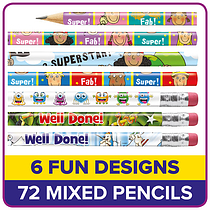 Pencils Value Pack - 6 Designs (72 Pencils)