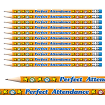 Perfect Attendance Foil Pencils (12 Pencils) Brainwaves