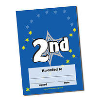 Personalised 2nd Place Certificate (A5)