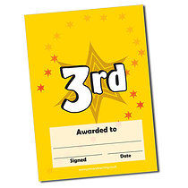 Personalised 3rd Place Certificate (A5)
