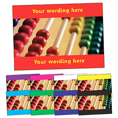 Personalised Abacus Postcard (A6)