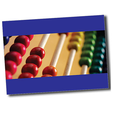 Personalised Abacus Postcard - Blue (A6)