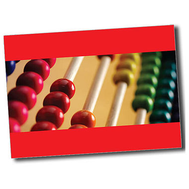 Personalised Abacus Postcard - Red (A6)