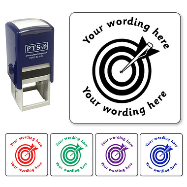 Personalised Arrow and Target Stamper (25mm)
